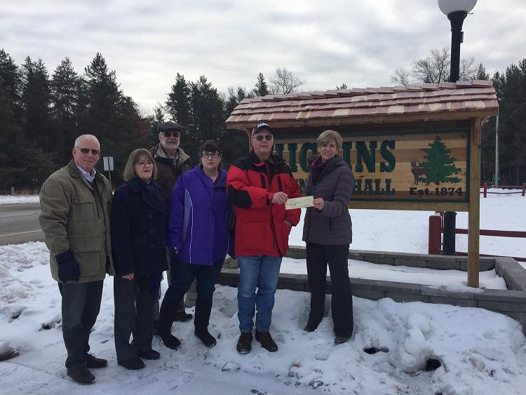 Higgins Township received $2,025 facade grant