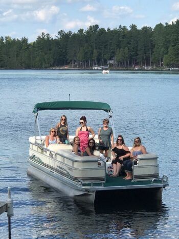 Clear Lake pontoon