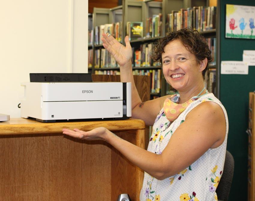 Library Director Bethany Romanowski