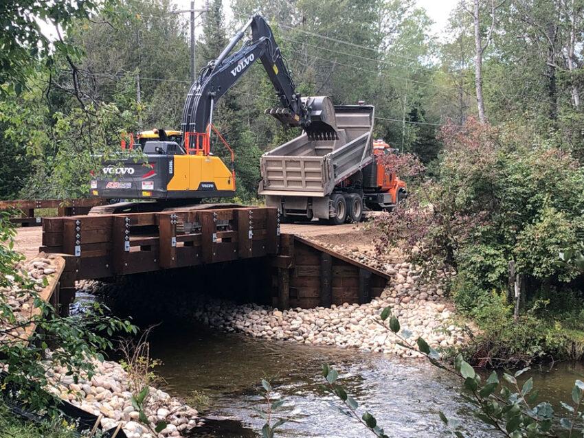 Huron Pines culvert construction